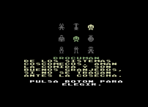 C64 M.U.L.E. Spanish Character Selection