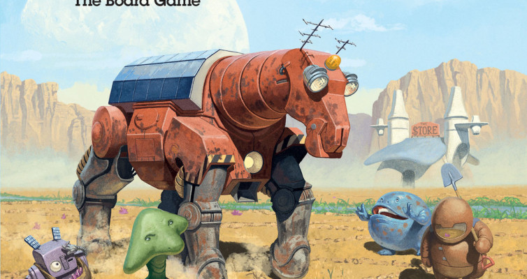 MULE board game - front