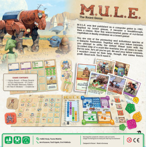 MULE board game - back